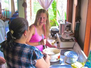 Learning to make cinnamon rolls with homestay mom by Chill Expeditions,